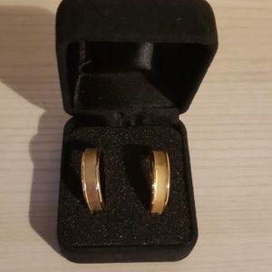 18k gold hoop earrings milor italy